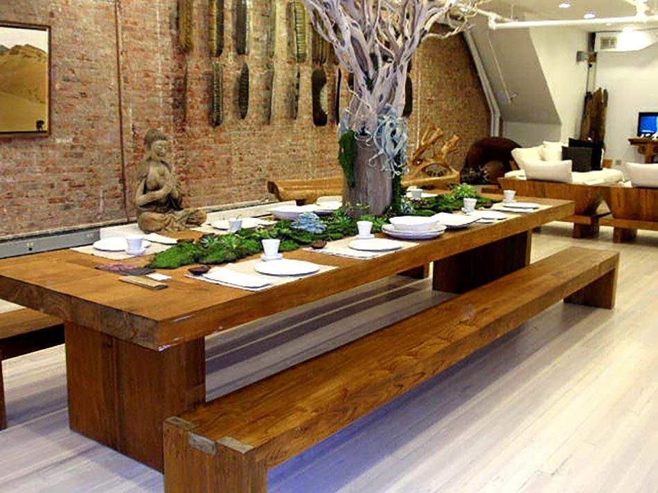Deco salon originale aux l ments verts co design feria for Sejour salon salle a manger