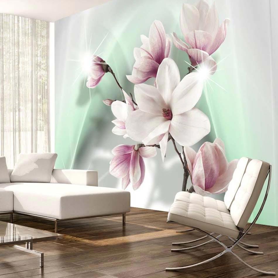 Papier peint 3d cr ant un effet abstrait et trompe l il - Papier peint chambre adulte zen ...