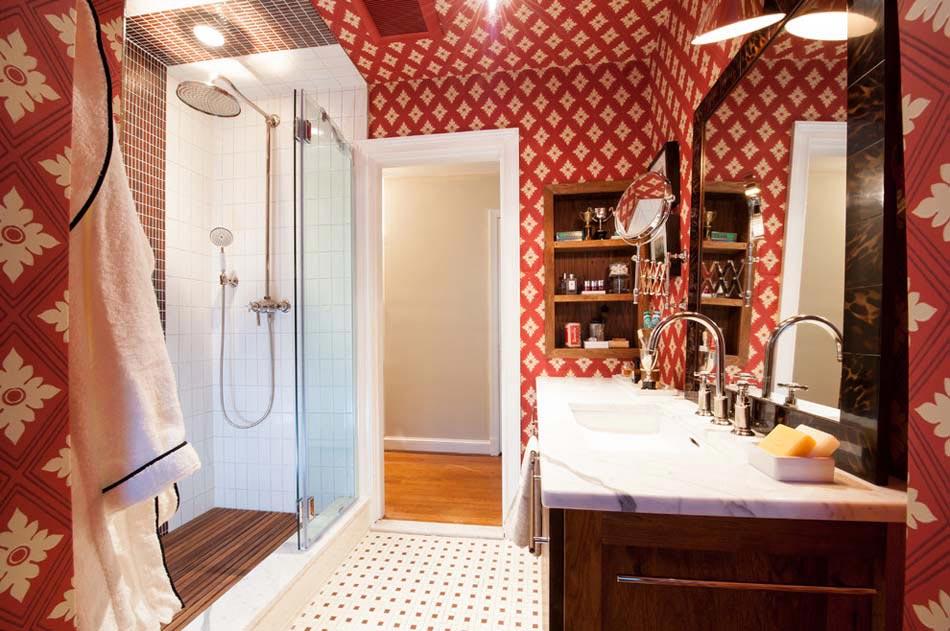 Papier peint salle de bain offrant la possibilité de personnaliser ...