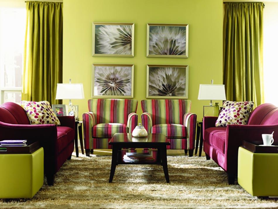D co maison l aide des rayures ind modables design feria - Tapis rayures multicolores ...