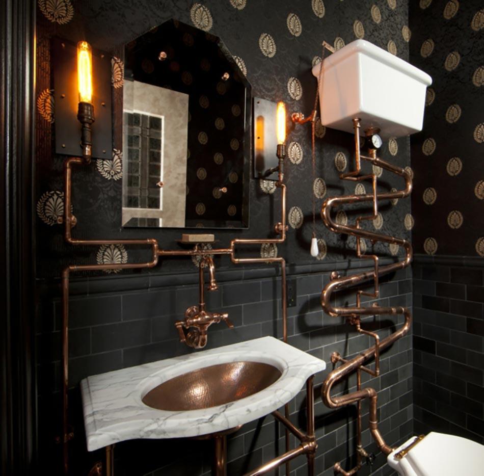 15 id es d co d int rieur cuivr es pour une maison cr ative design feria - Toilette seche interieur maison ...