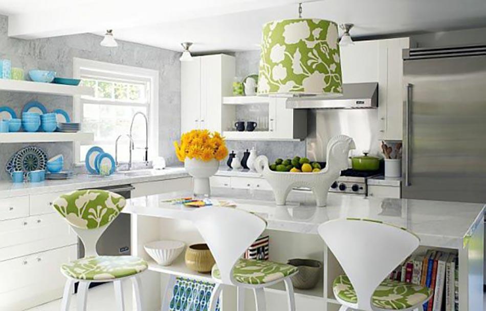 cuisine la d coration printani re inspir e par les fleurs design feria. Black Bedroom Furniture Sets. Home Design Ideas