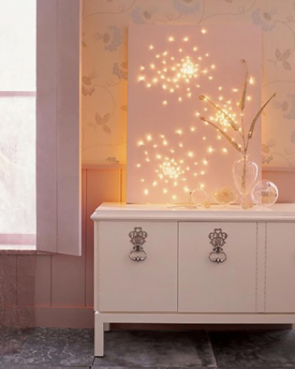 Féerique Décoration De Noël Panneau Pour La Chambre