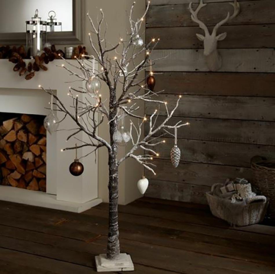 Pre Lit Metal Christmas Tree