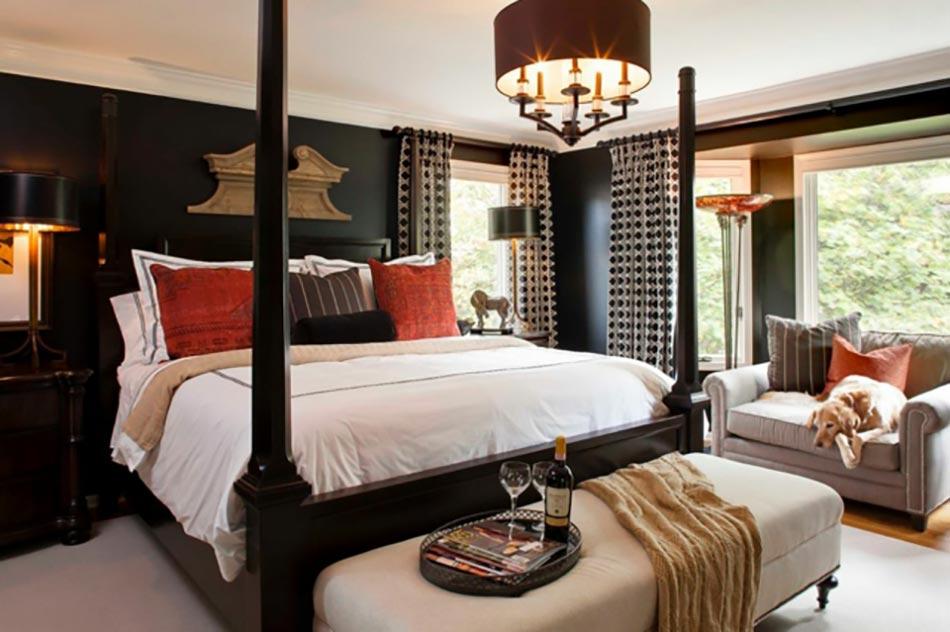 peindre les murs int rieurs dans des couleurs sombres design feria. Black Bedroom Furniture Sets. Home Design Ideas