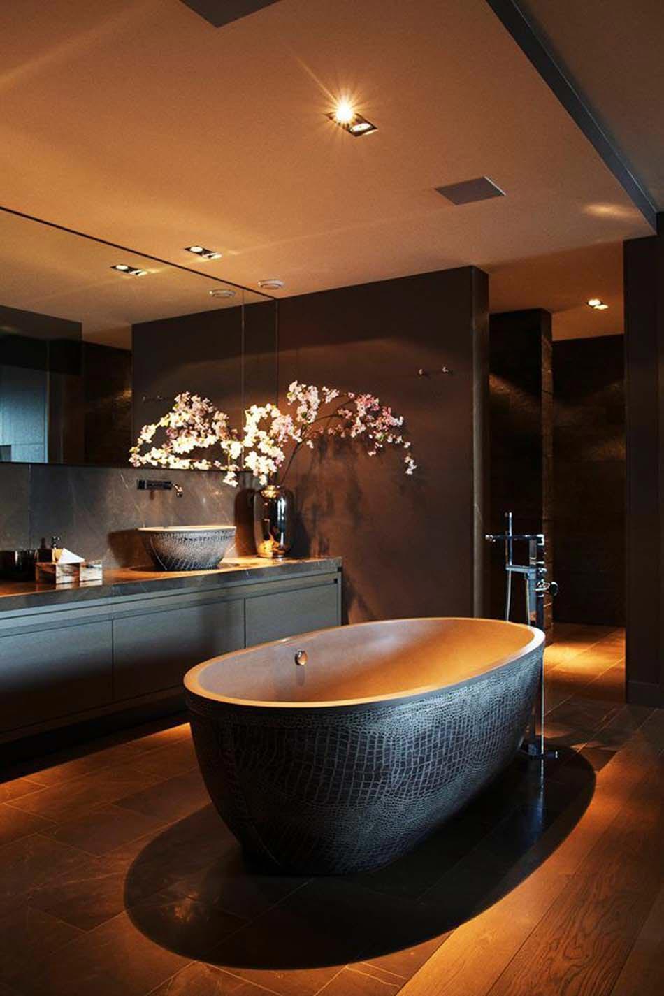 personnaliser sa salle de bain design avec un look extravagant ou ... - Salle De Bain Asiatique