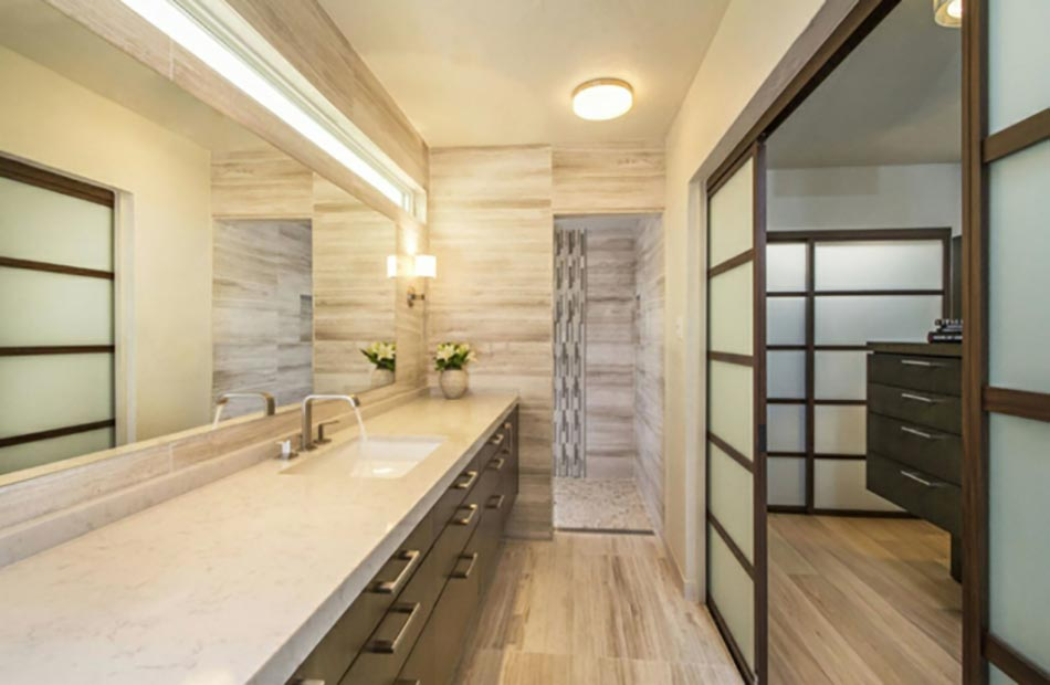 Une d co zen pour une salle de bains minimaliste design for Decoration salle de bain zen
