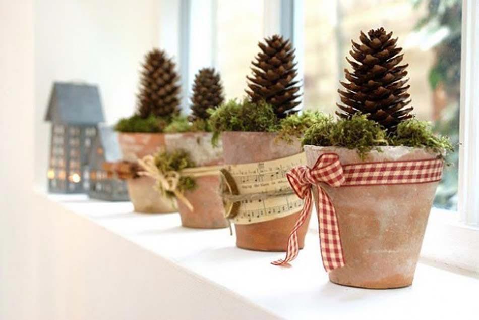 Decoration de noel exterieur en pot for Decoration exterieur hiver