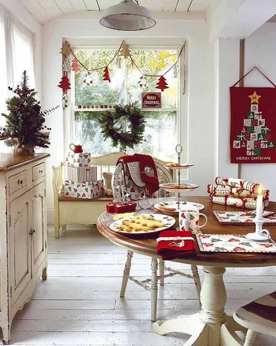 D coration de no l pour un int rieur en rouge design feria for Bibelots decoration cuisine