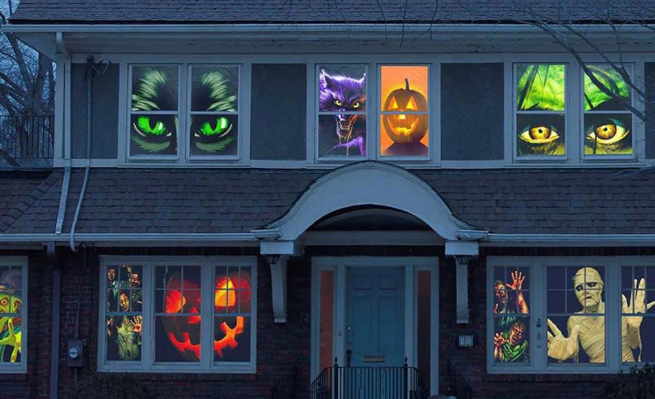 D coration halloween 16 inspirations en images pour for Decoration fenetre pour halloween