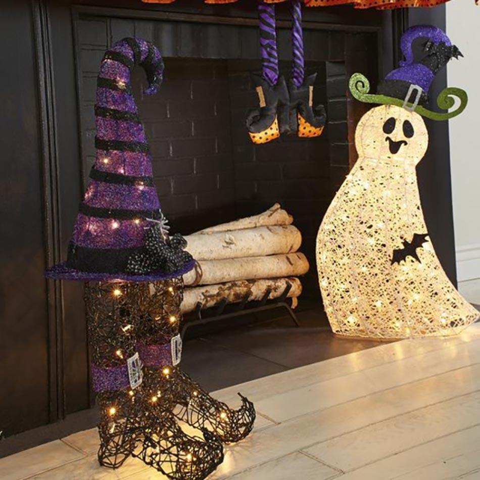 Interieur maison halloween for Decoration maison halloween pas cher