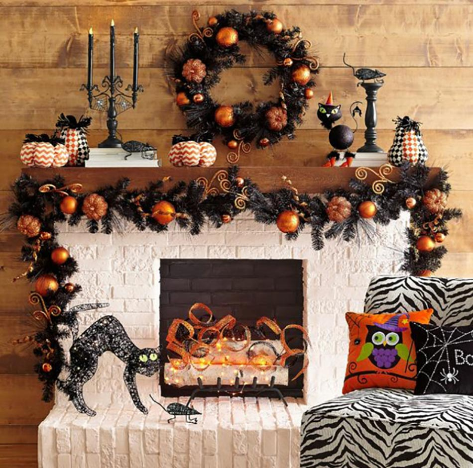 decoration halloween maison interieur. Black Bedroom Furniture Sets. Home Design Ideas