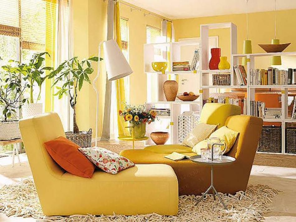 Le jaune pour une d coration int rieure joyeuse design feria for Decoration d interieur design