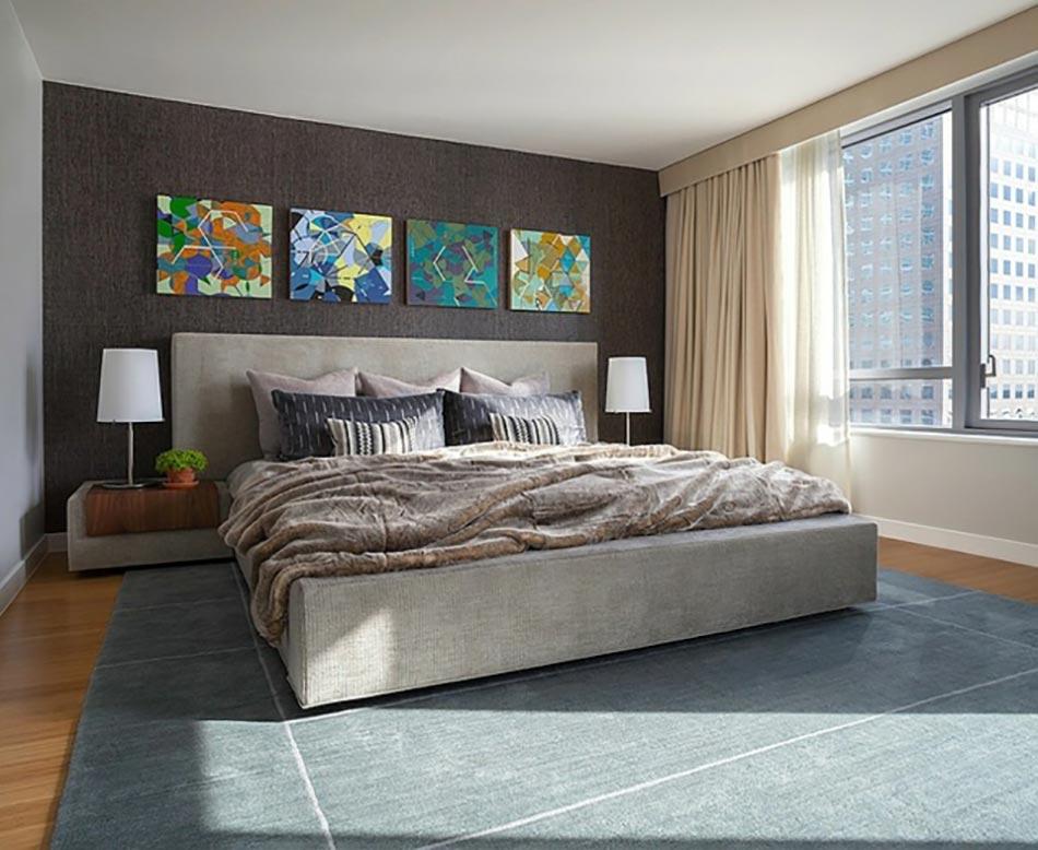 D coration sur les murs pour une chambre tr s design design feria - Papier peint chic design ...
