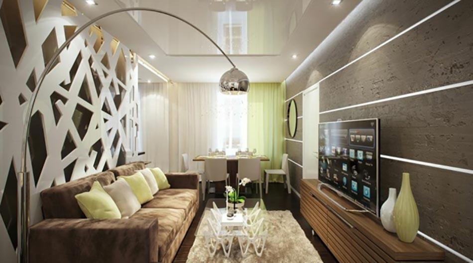 D co interieur moderne petit espace for Salon moderne petit espace