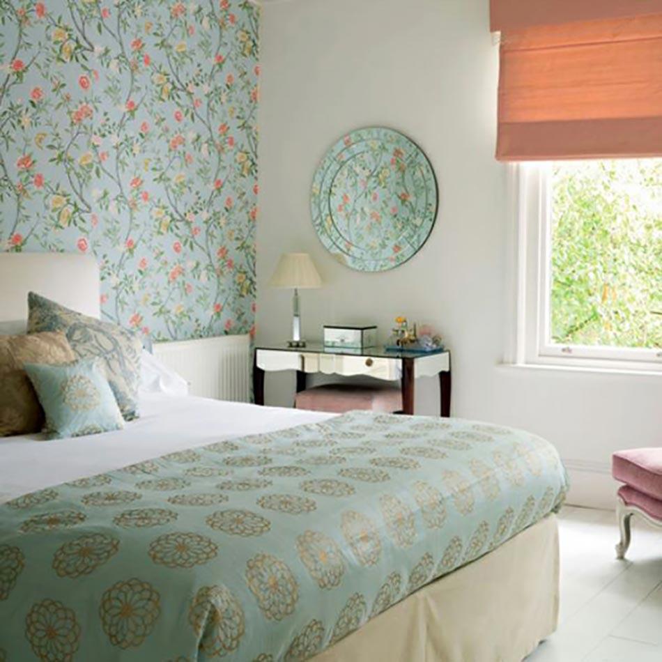 les papiers peints en tant que d coration chambre cr ative design feria. Black Bedroom Furniture Sets. Home Design Ideas