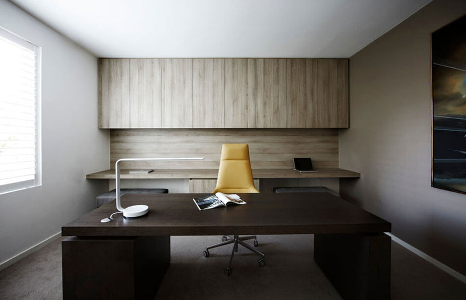 home office minimaliste aménagement feng shui