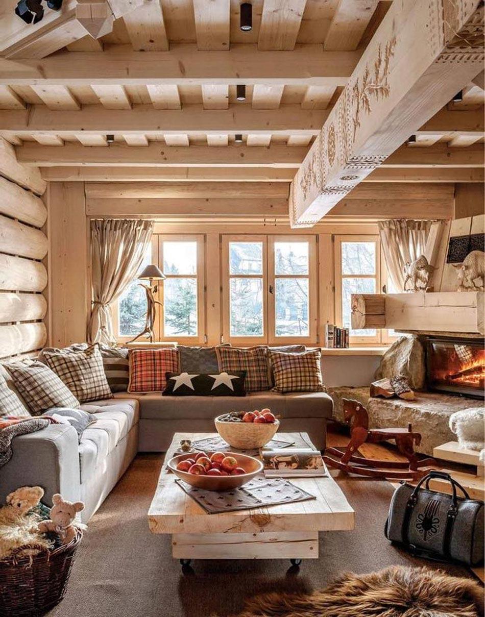 Préférence L'intérieur bois rustique : garantie pour la chaleur et le bien  PL09