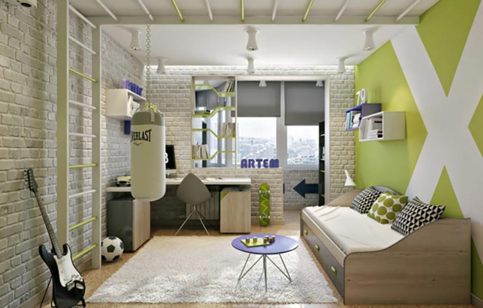 Am nagement chambre d enfant dans un appartement design - Chambre ado originale ...
