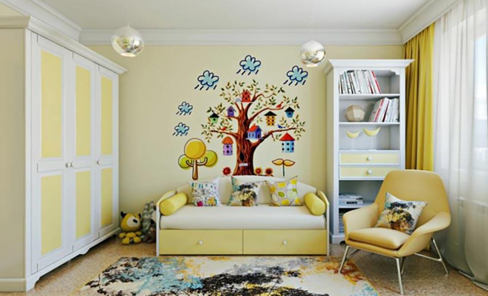 Am nagement chambre d enfant dans un appartement design for Deco murale chambre ado