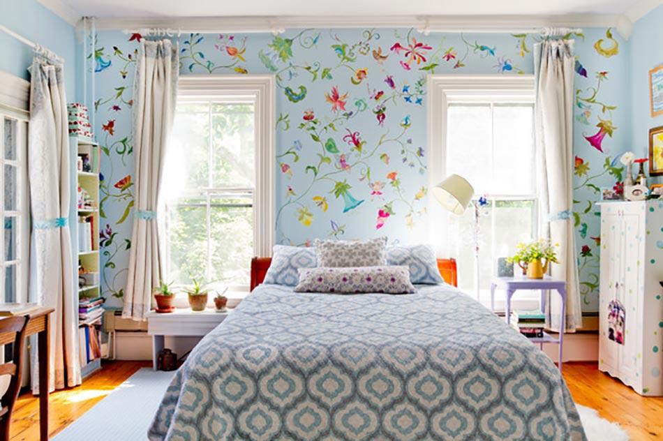 20 Floral Wallpaper Bedroom Ideas Printani Re L Aide Des Papiers Peints En Fleurs Design Feria