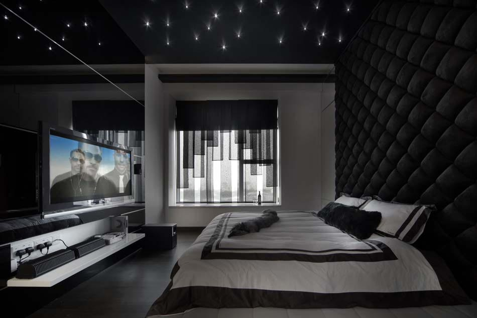 d co chambre coucher au design cr atif l gant et minimaliste pour un homm. Black Bedroom Furniture Sets. Home Design Ideas