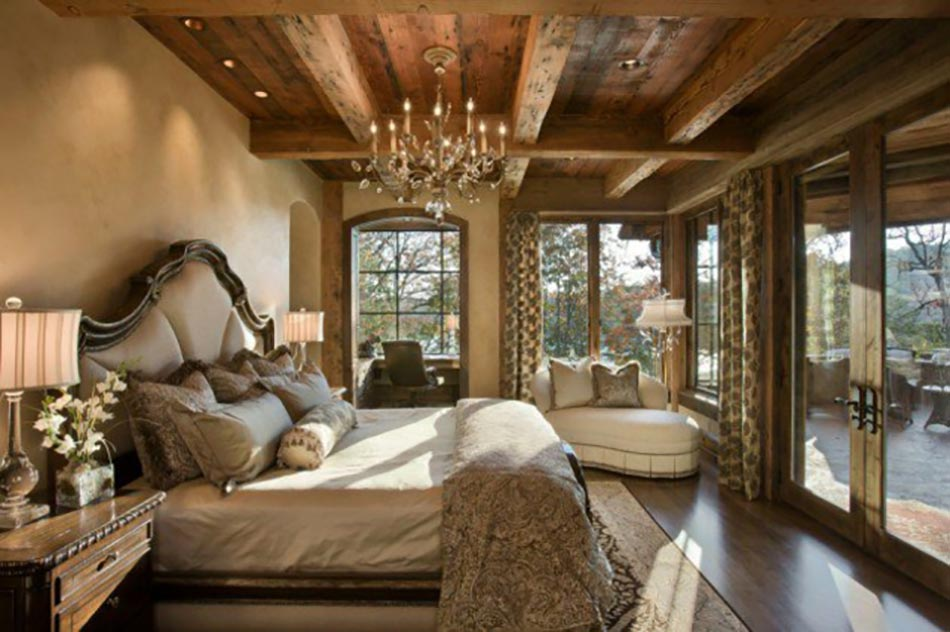Lesprit Montagne Reflt Dans Une Chambre Rustique