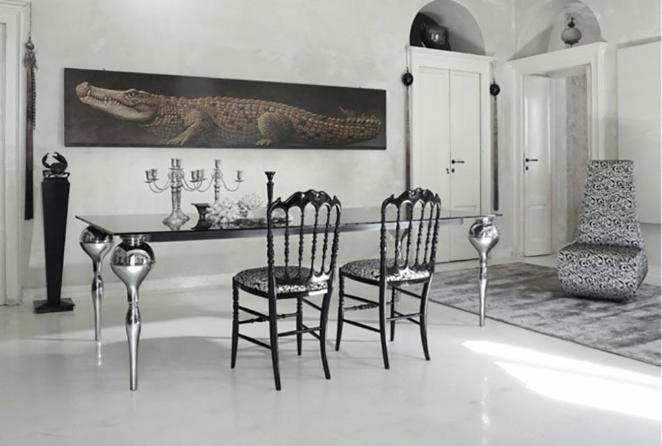 Salle manger moderne aux chaises design uniques design feria - Salle a manger moderne blanche ...