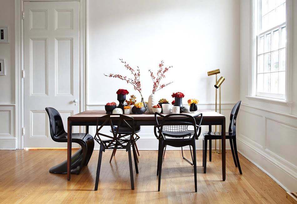 Les chaises d pareill es qui gayent l ambiance de la - Salle a manger italienne design ...