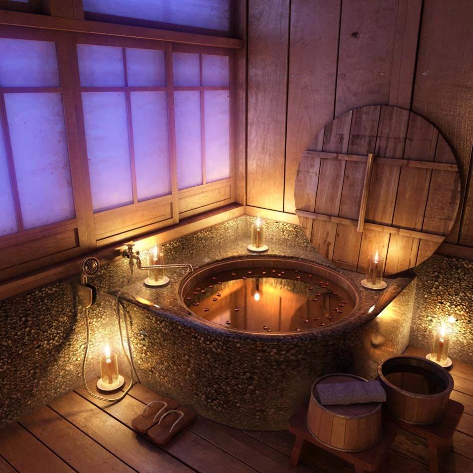 Baignoire design en bois ou les salles de bains aux ...