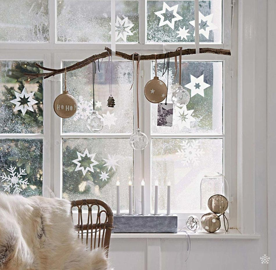 Diff rents objets d co de no l pour fen tre une for Decoration interieur de noel