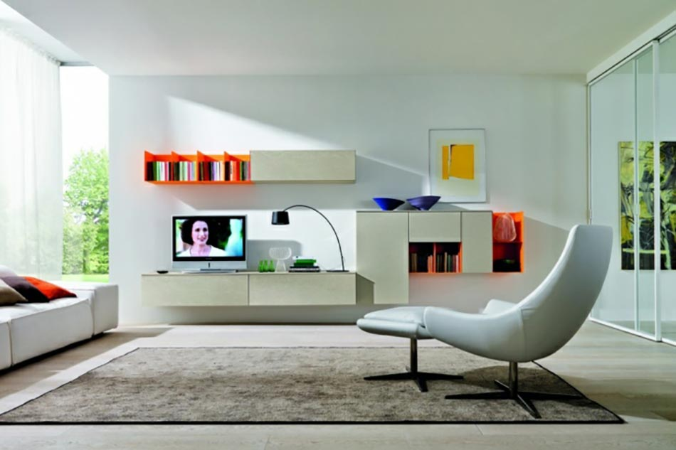 Un design italien pour un s jour contemporain l gant design feria - Decoration petit salon moderne ...