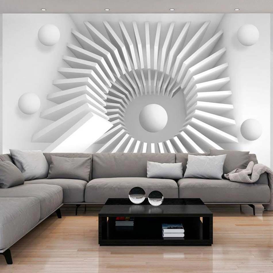 Super Papier peint 3D créant un effet abstrait et trompe l'œil  BR24