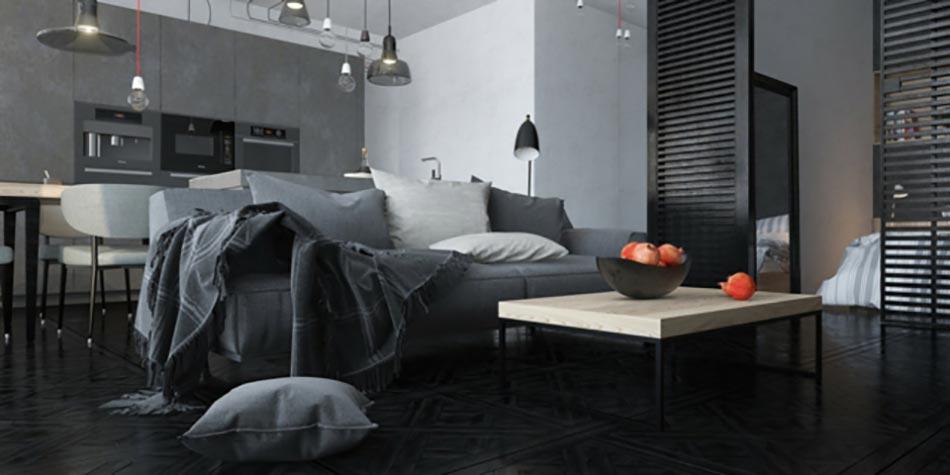 50 nuances de gris pour une maison design design feria - Maison avec interieur moderne et styles differents dans chaque piece ...