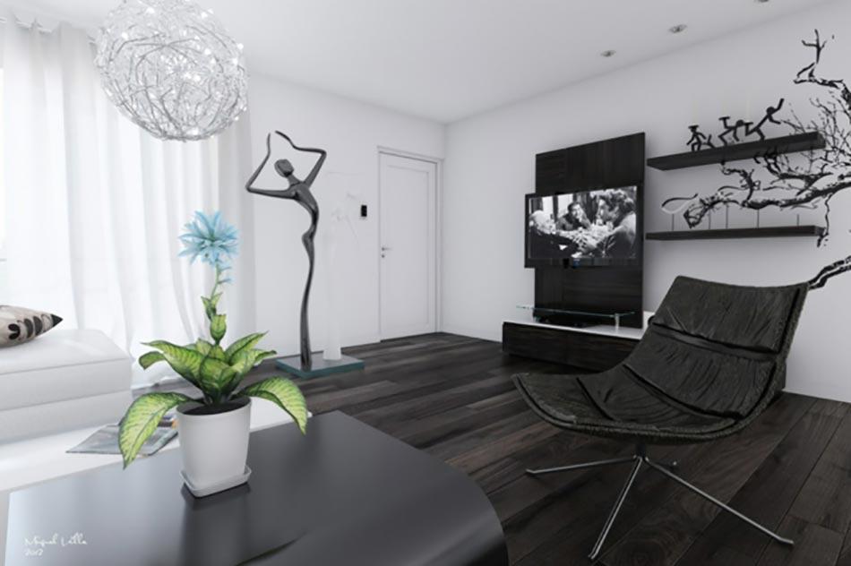 puret et lgance avec ce salon noir et blanc - Model Salon Moderne Noiretblanc