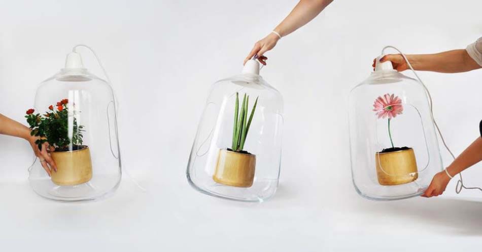 Changer La Plante équivaut Changer Le Look De Ce Luminaire Original Et  Innovant. Belle Lampes Art Design Original Fleurs