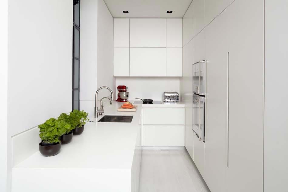 Petite cuisine cr ative aux influences modernes for Petite cuisine blanche moderne