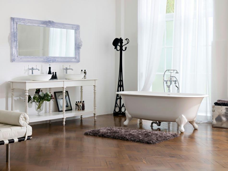 Am nagement salle de bain version luxe design feria - Meuble salle de bain retro chic ...