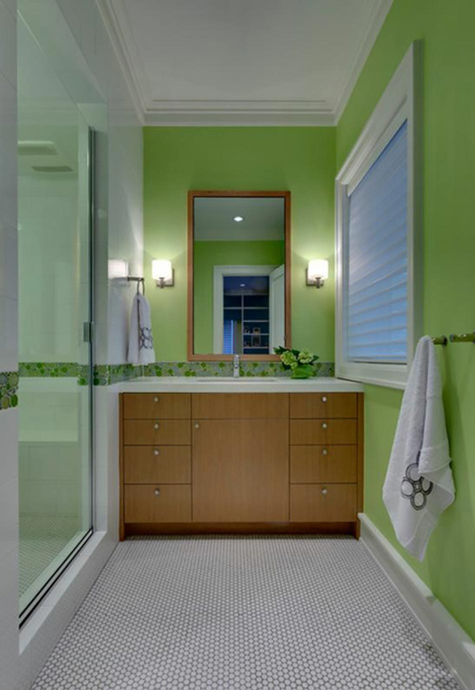 d co reposante et tendance en vert pour la salle de bain design feria. Black Bedroom Furniture Sets. Home Design Ideas