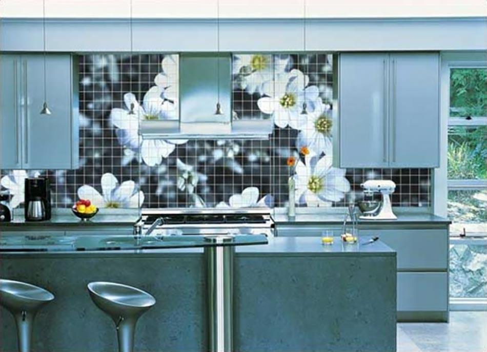 Cuisine à la décoration printanière inspirée par les fleurs ...