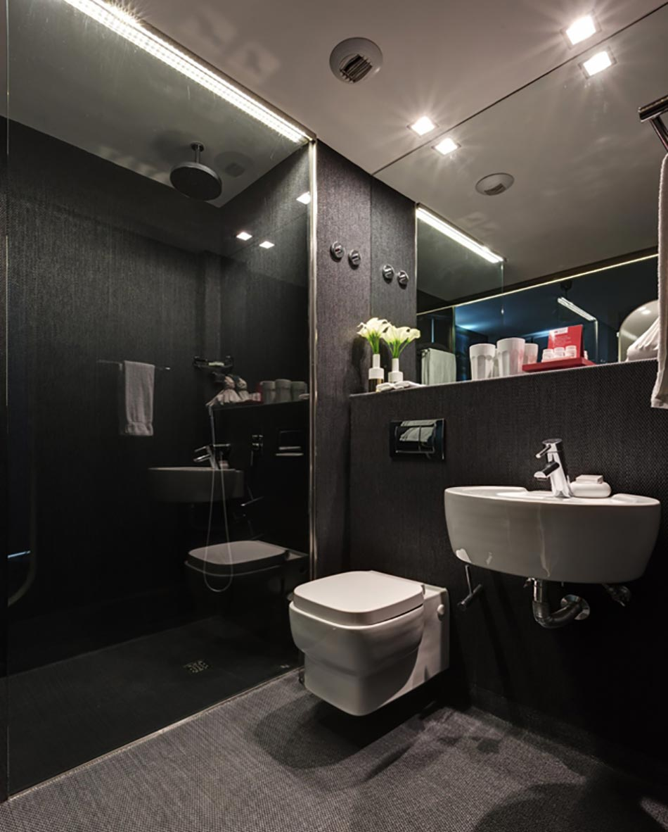 Salle De Bain Foncée : Lx boutique hôtel à lisbonne au cœur de la ville design