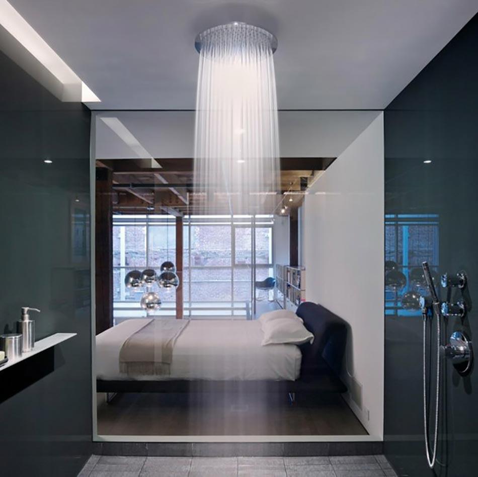 Salle de bain décorée par une douche design ultime | Design Feria