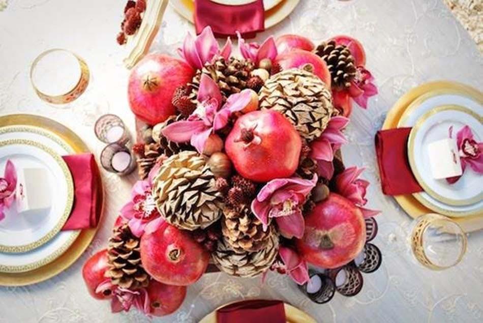 une décoration de noël créative et originale à l'aide de pommes de