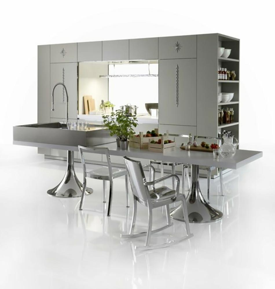 cuisine design contemporain sign philippe starck design feria. Black Bedroom Furniture Sets. Home Design Ideas