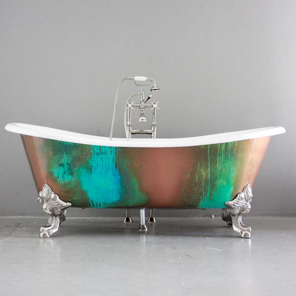 Baignoire de couleur pour relooker et embellir votre salle for Baignoire ilot compacte