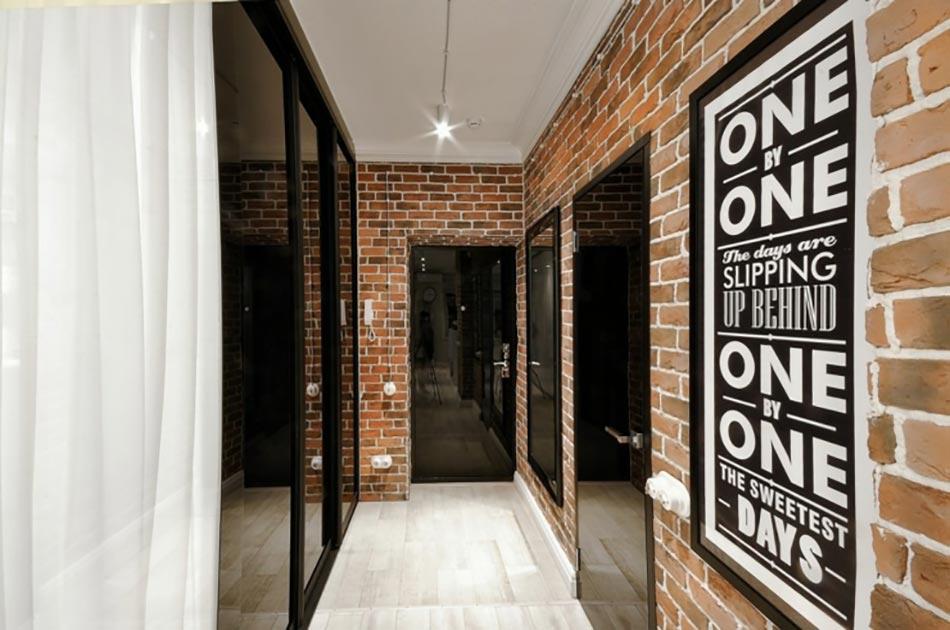 Agencement original d un petit appartement de ville for Entree appartement design