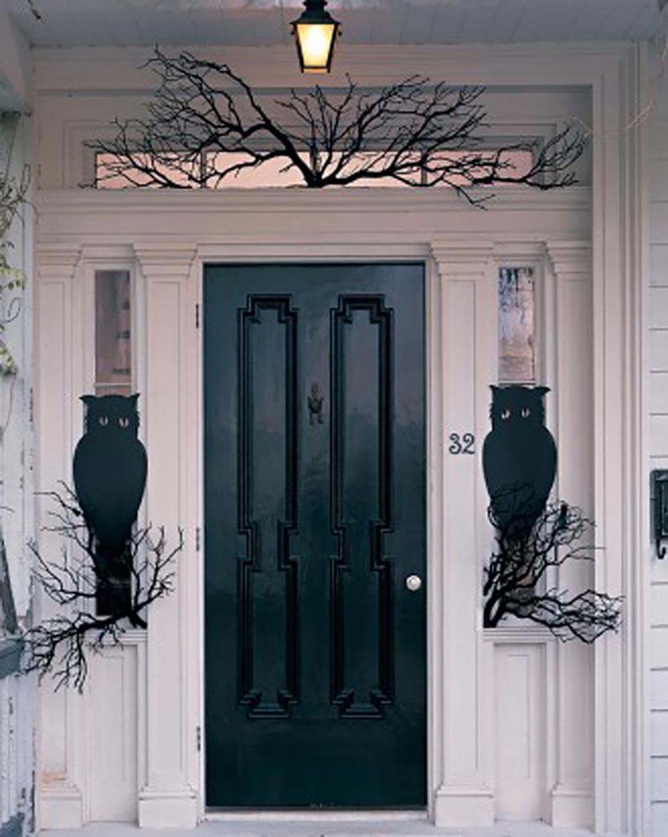 décoration halloween entrée
