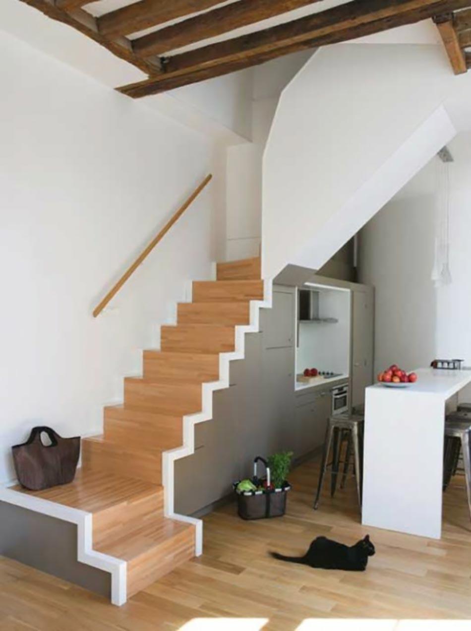 Assez Cuisine design sous l'escalier à voir | Design Feria VZ86