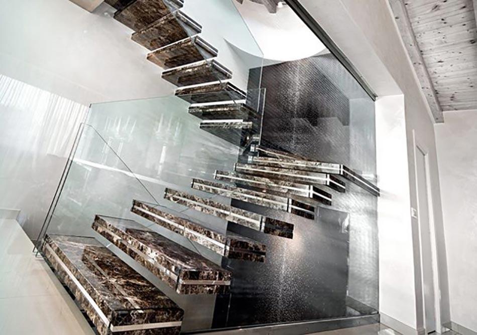 Escalier design lumineux par luxio design feria - Marbres design ...