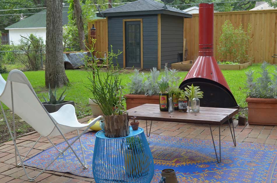 le tapis ext rieur la touche d co pour des espaces. Black Bedroom Furniture Sets. Home Design Ideas